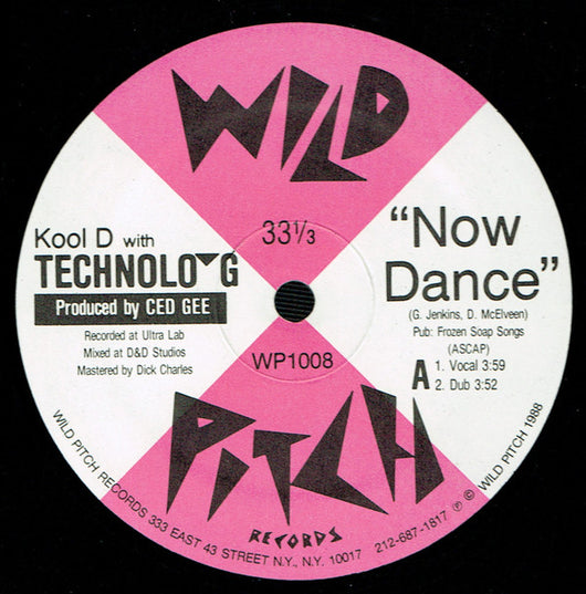 Kool D With Technolo-G : Now Dance  (12