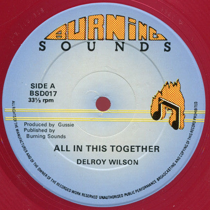 Delroy Wilson : All In This Together / Because I Am Black (12