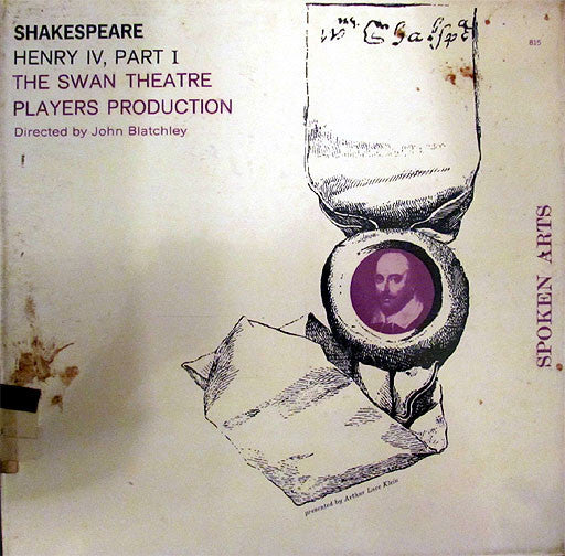 William Shakespeare Performed By The Swan Theatre Players : Henry IV, Part I (LP)