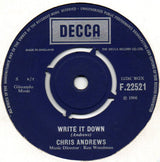 "Chris Andrews (3) : That's What She Said (7"", Single)"