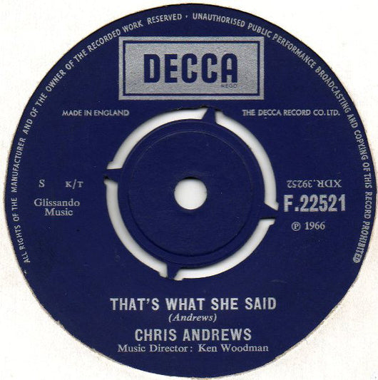 Chris Andrews (3) : That's What She Said (7