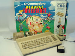 Commodore 64 - Playful Intelligence Set (W/tape deck & 19 games)