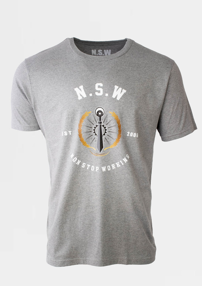 Grey Signature Emblem T-Shirt