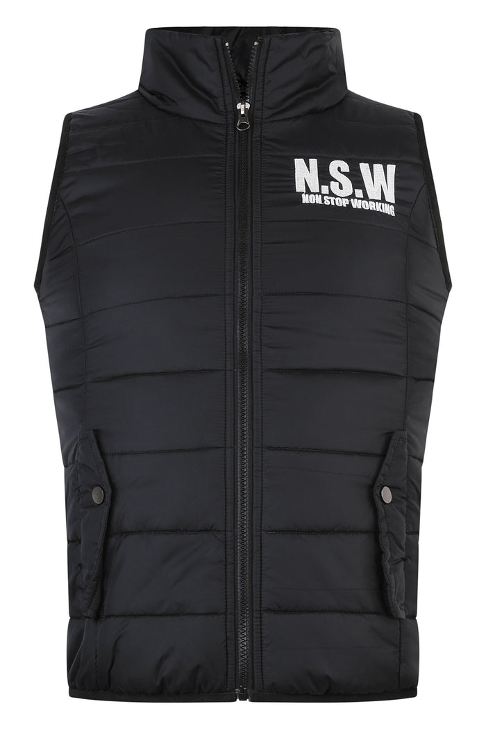 NON STOP WORKING BLACK WOMEN'S BODYWARMER