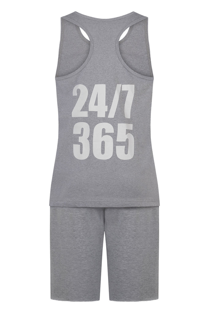 GREY 24/7 365 VEST AND SHORTS SET (men's)