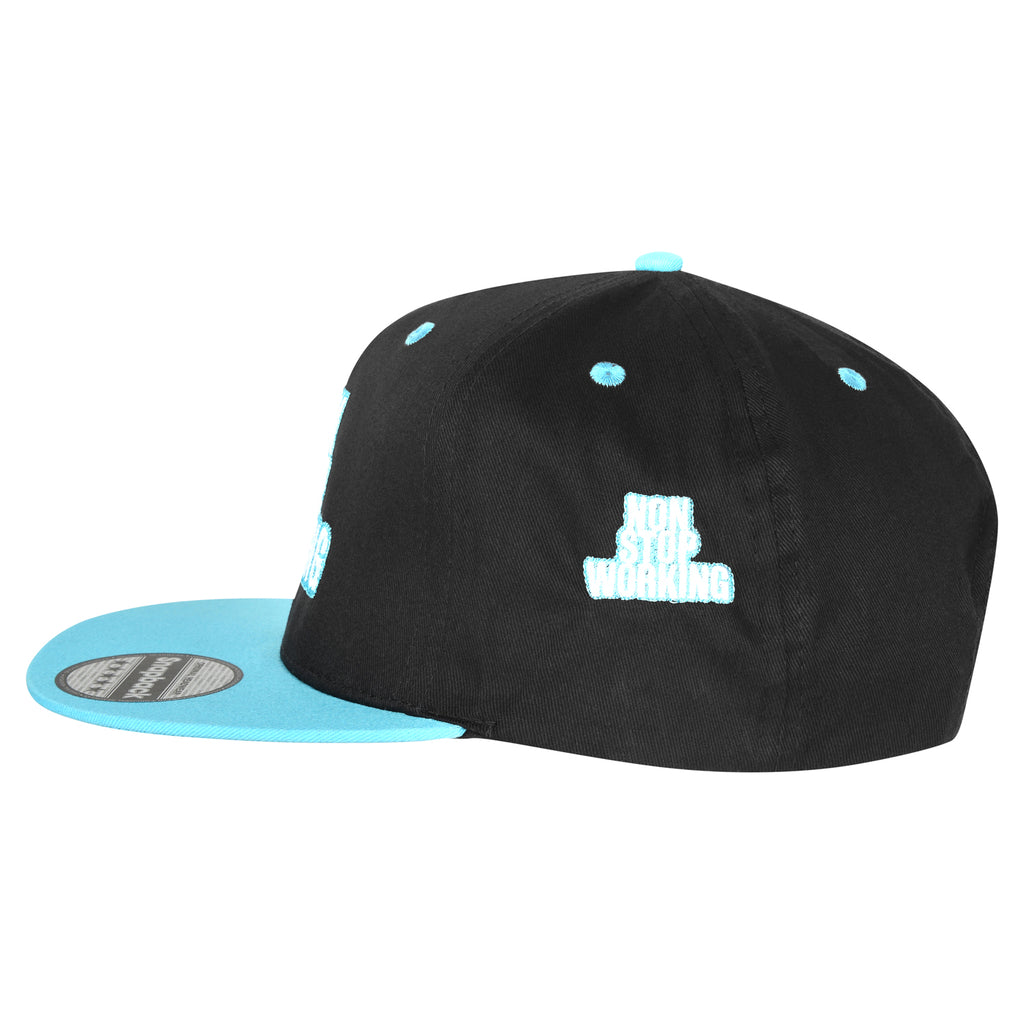 RETRO NON STOP WORKING BLUE OCEAN SNAPBACK CAP