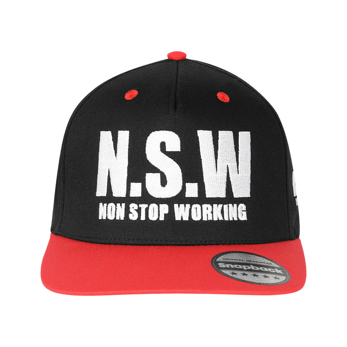 Red & Black Snapback Cap