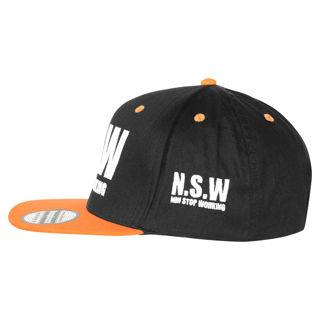 ORANGE & BLACK SNAPBACK CAP