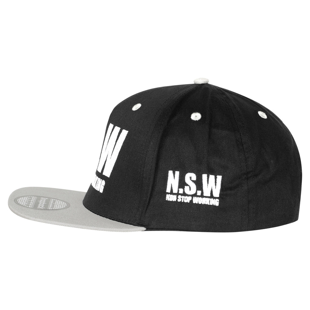 NON STOP WORKING SMOKEY GREY SNAPBACK CAP