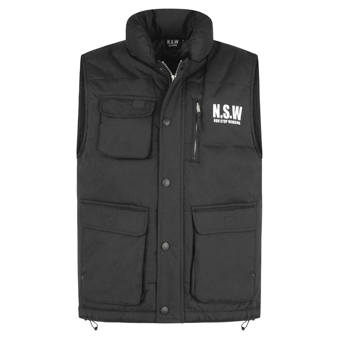 NON STOP WORKING BLACK MEN'S BODYWARMER