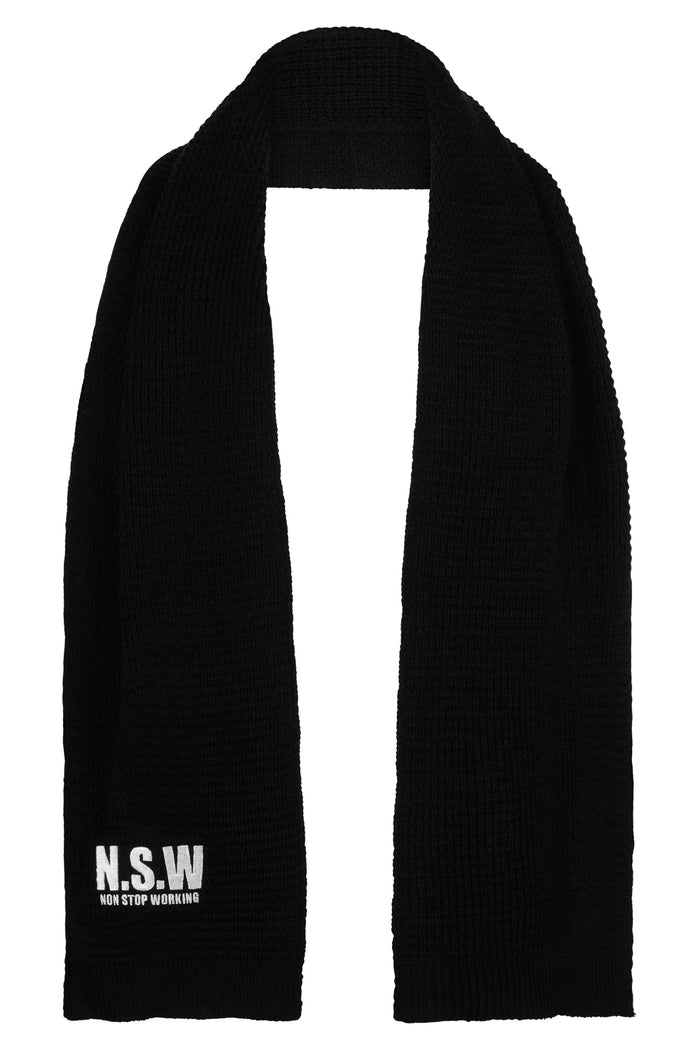 NON STOP WORKING SCARF IN BLACK
