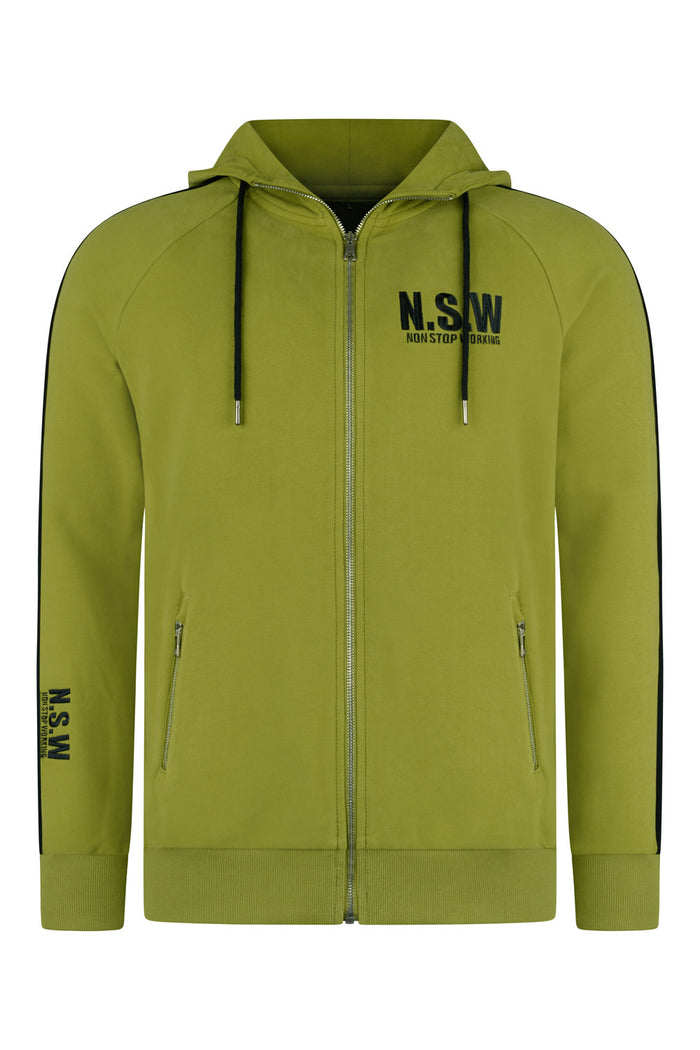 NON STOP WORKING OLIVE GREEN CLASSIC TRACKSUIT