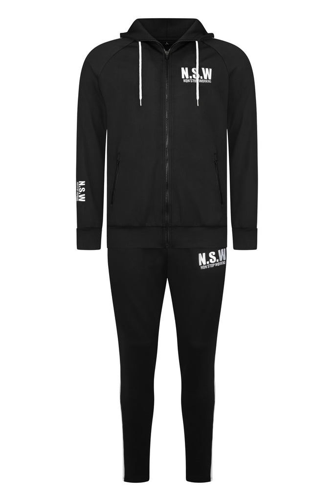 NON STOP WORKING BLACK CLASSIC TRACKSUIT