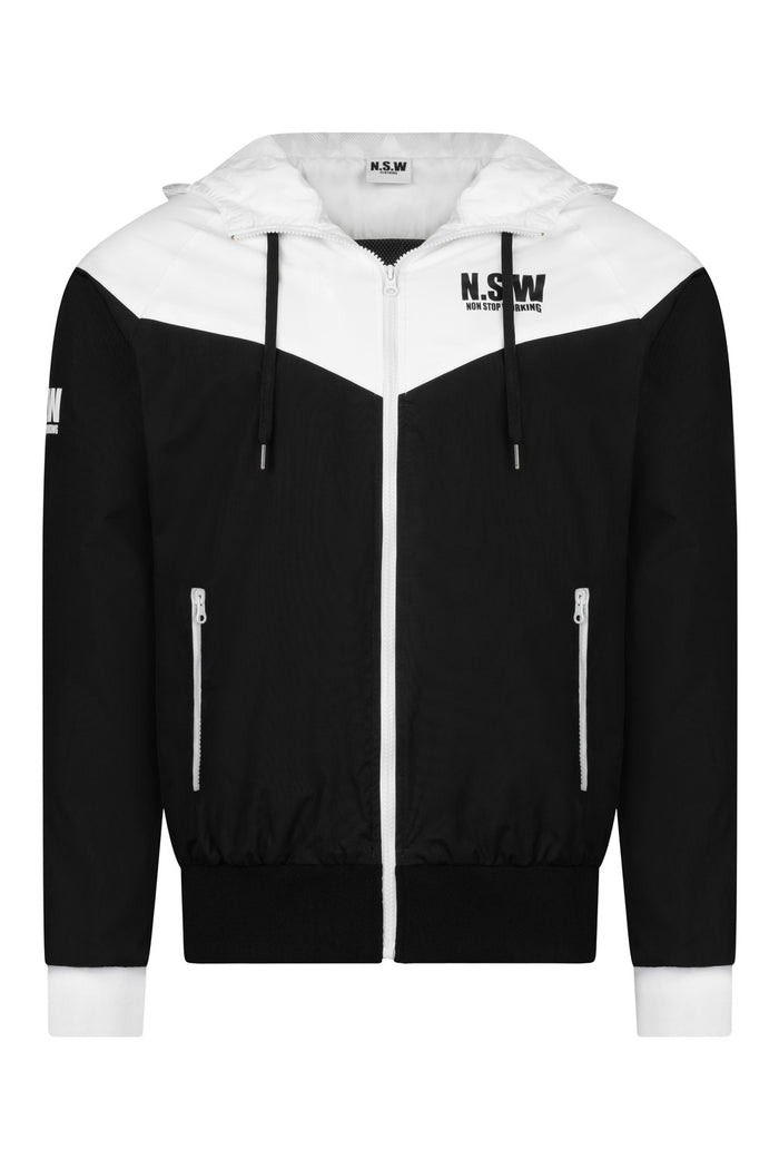 Water Resistance Black & White Sport Jacket