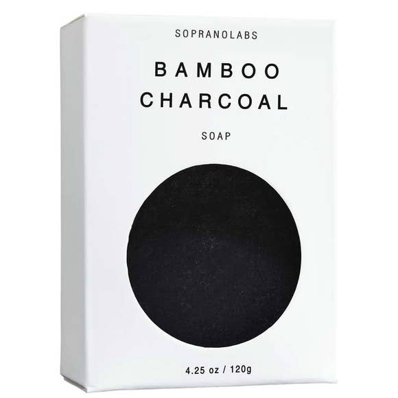 SopranoLabs Bamboo Charcoal Vegan Soap