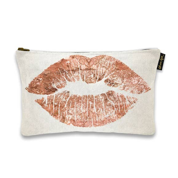 Oliver Gal Artist Solid Kiss Copper Pouch