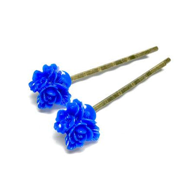 All Up In The Hair Blue Bouquet Bobby Pins