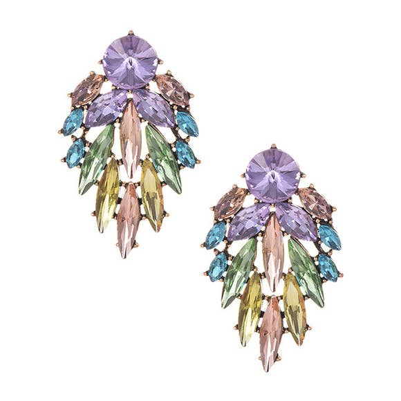 Koko and Lola Pastel Rhinestone Drop Earrings