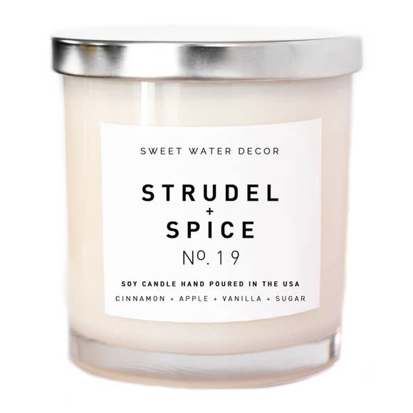 Sweet Water Decor Strudel + Spice Soy Candle