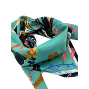 "Chan Graphics Wild Flowers Cotton Silk 26"" Square Scarf"