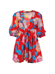 A Peace Treaty Red Floral Talla Mini Dress