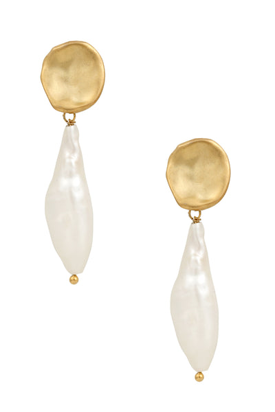 Five and Two Inez Pearl Drop Earrings
