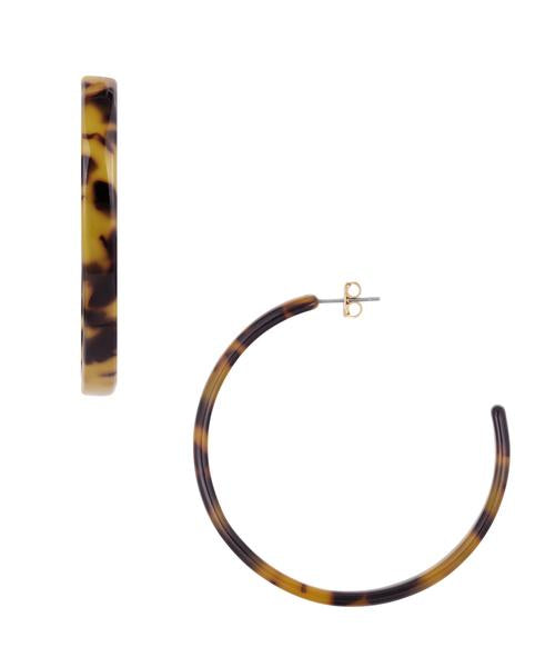 Five and Two Audrey Tortoise Shell Hoops