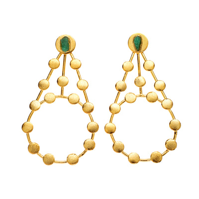 Tao Company Gold Disc Chandelier Earrings