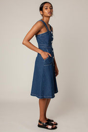 Rachel Antonoff Alma Button Down Denim Dress