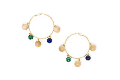 Sophie Monet Maraca Hoop Earrings