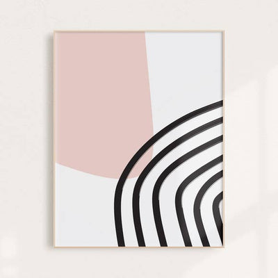 Binge Studio Abstract Painted Rainbow Wall Art Print 8x10