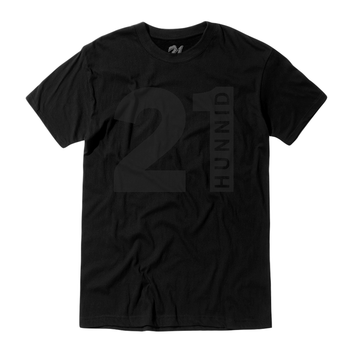21 Hunnid Black on Black T-Shirt