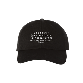 21 Savage Bank Account Black Dad Hat