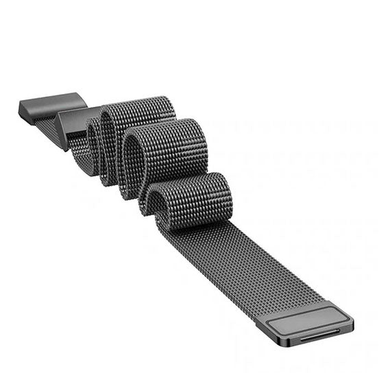 Milanese Band for Fitbit Charge 3, Stainless Steel Bracelet Replacement Strap