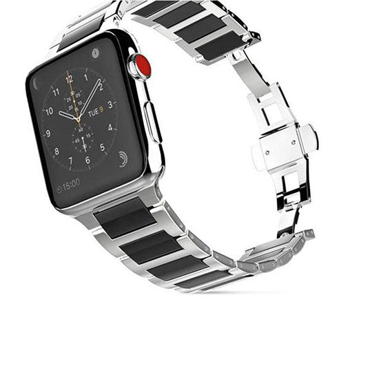 Ceramic Band for Apple Watch, Stainless Steel Bracelet Replacement Strap