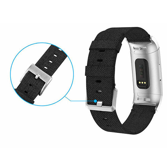 Nylon Band for Fitbit Charge 3, Nylon Bracelet Replacement Strap