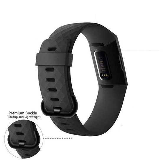 Silicone Band for Fitbit Charge 3, Silicone Bracelet Replacement Strap