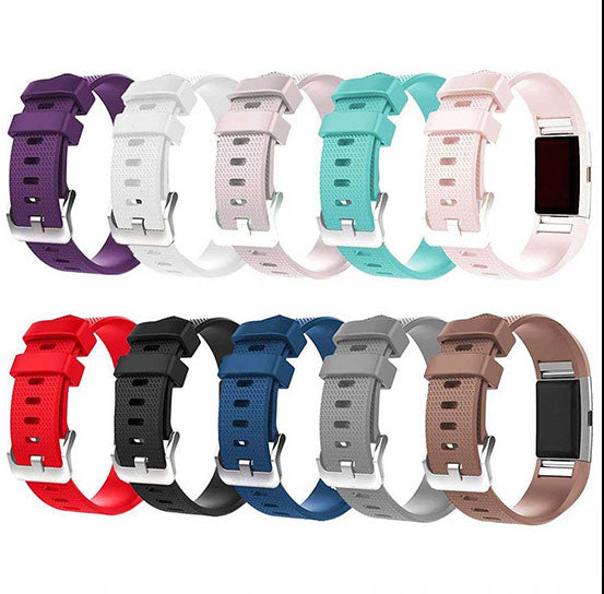Silicone Band for Fitbit Charge 2, Silicone Bracelet Replacement Strap