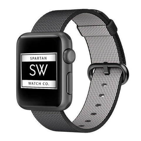 Soft airy and impressive – this nato styled nylon replacement band is a must-have companion for your Apple Watch.