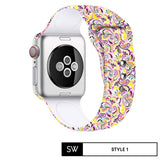 Watchband Store Design Print Band for Apple Watch Style 1 / 38mm | 40mm Design Print Silicone Band for Apple Watch