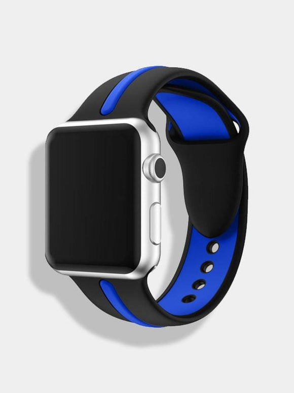 Spartan Watches 38 | 40 mm FINAL SALE: Dual-Tone Silicone Band for Apple Watch, Black & Blue