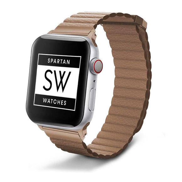 Spartan Watches FINAL SALE: Leather Band for Apple Watch, Brown 38mm | 40mm