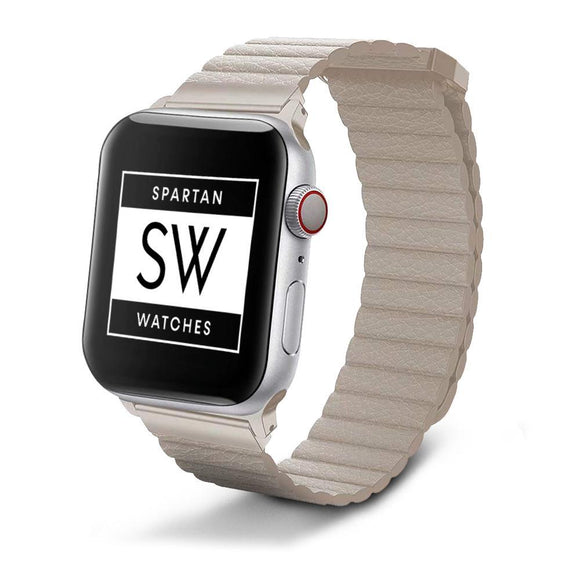 Spartan Watches FINAL SALE: Leather Band for Apple Watch, Khaki 38mm | 40mm