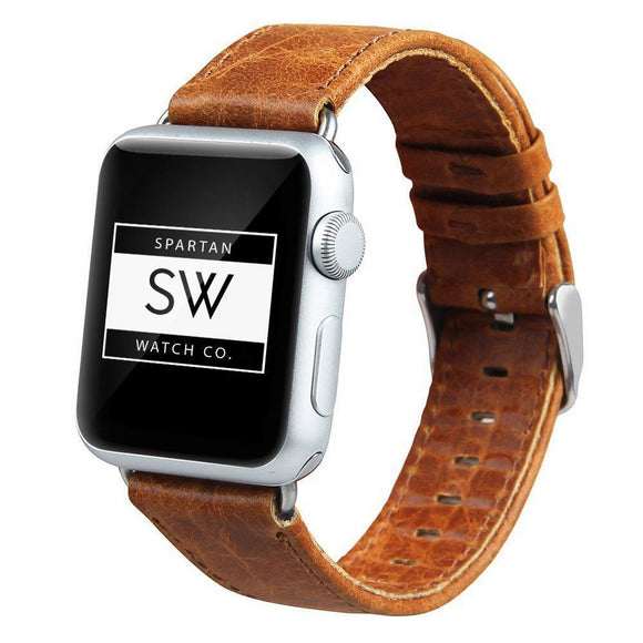 Spartan Watches Apple Watch Clearance Sale FINAL SALE: Leather Band for Apple Watch, Light Brown 38mm | 40mm