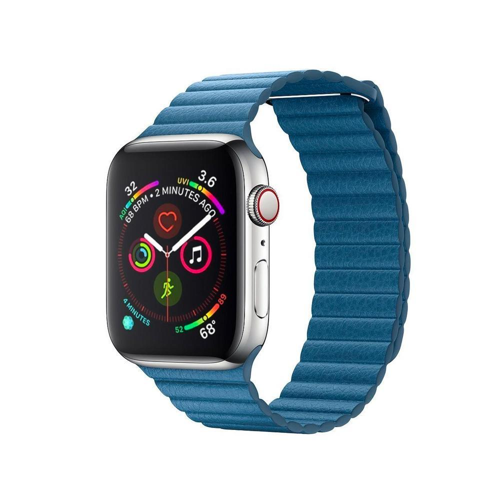 Spartan Watches Apple Watch Clearance Sale FINAL SALE: Leather Loop, Cape Cod Blue, 38mm | 40mm