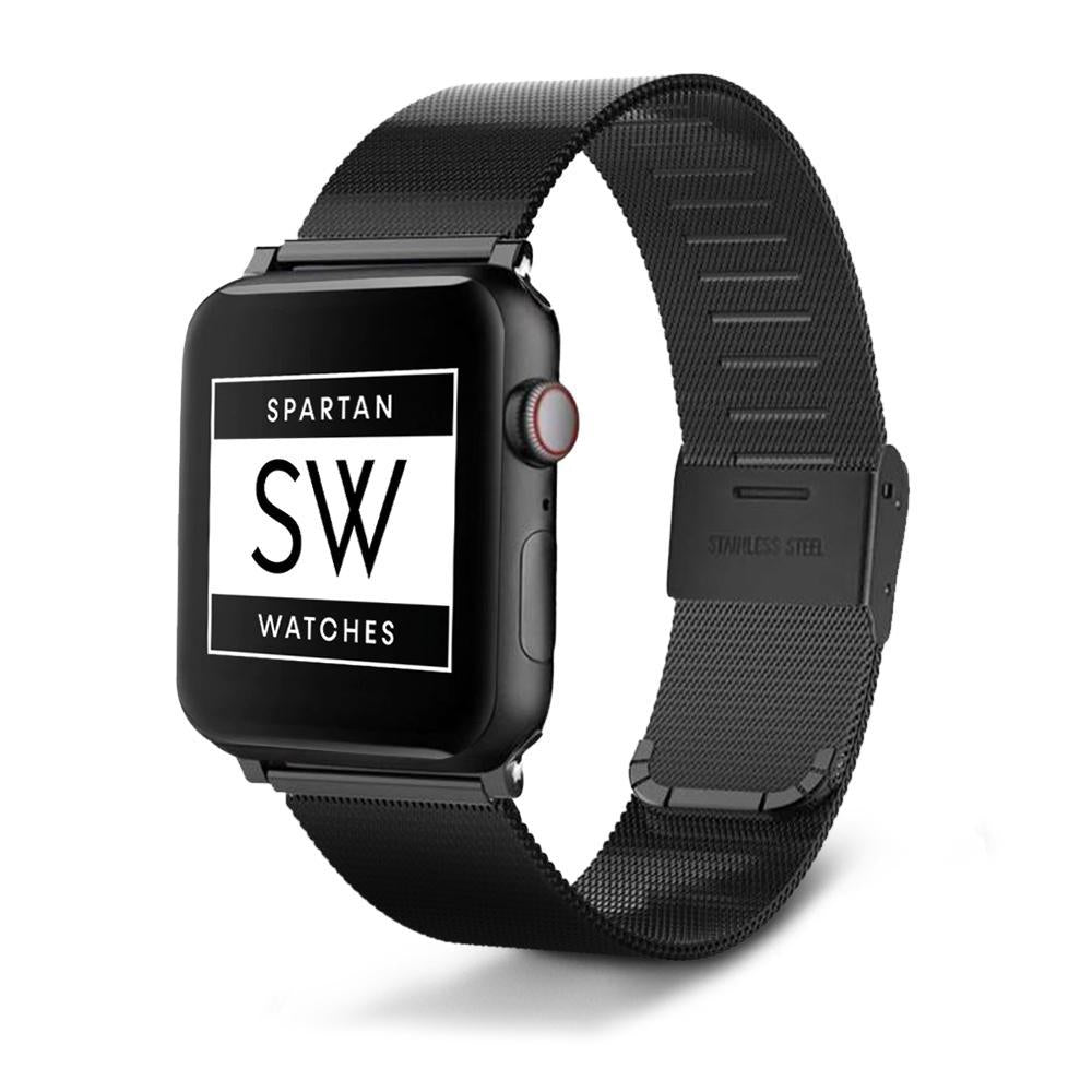 Spartan Watches Apple Watch Clearance Sale 38mm | 40mm FINAL SALE: Milanese Buckle Band for Apple Watch, Black