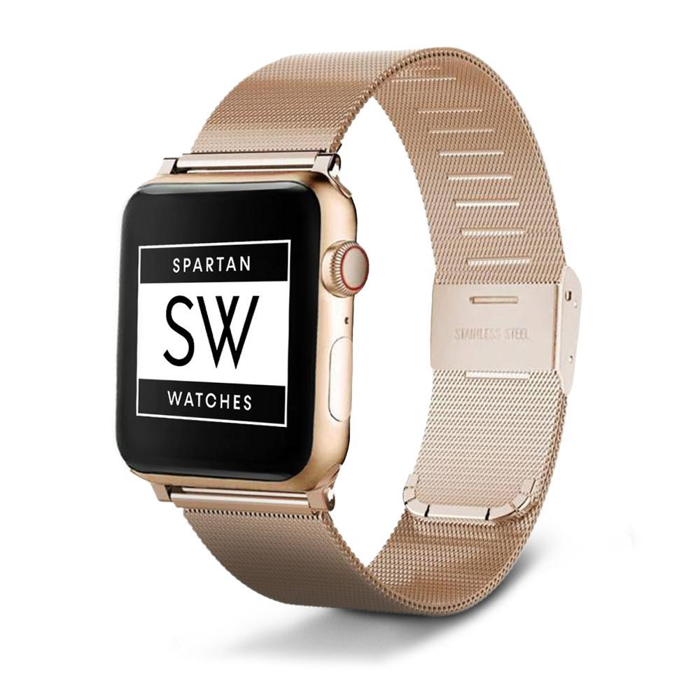 Spartan Watches Apple Watch Clearance Sale 38mm | 40mm FINAL SALE: Milanese Buckle Band for Apple Watch, Gold