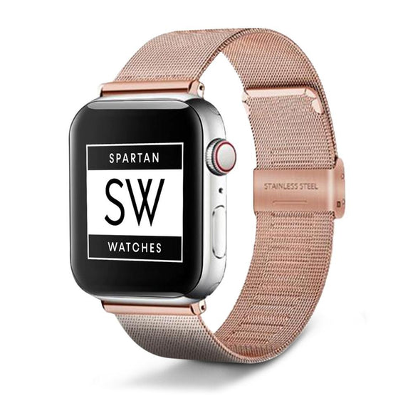 Spartan Watches Apple Watch Clearance Sale 38mm | 40mm FINAL SALE: Milanese Buckle Band for Apple Watch, Rose Gold