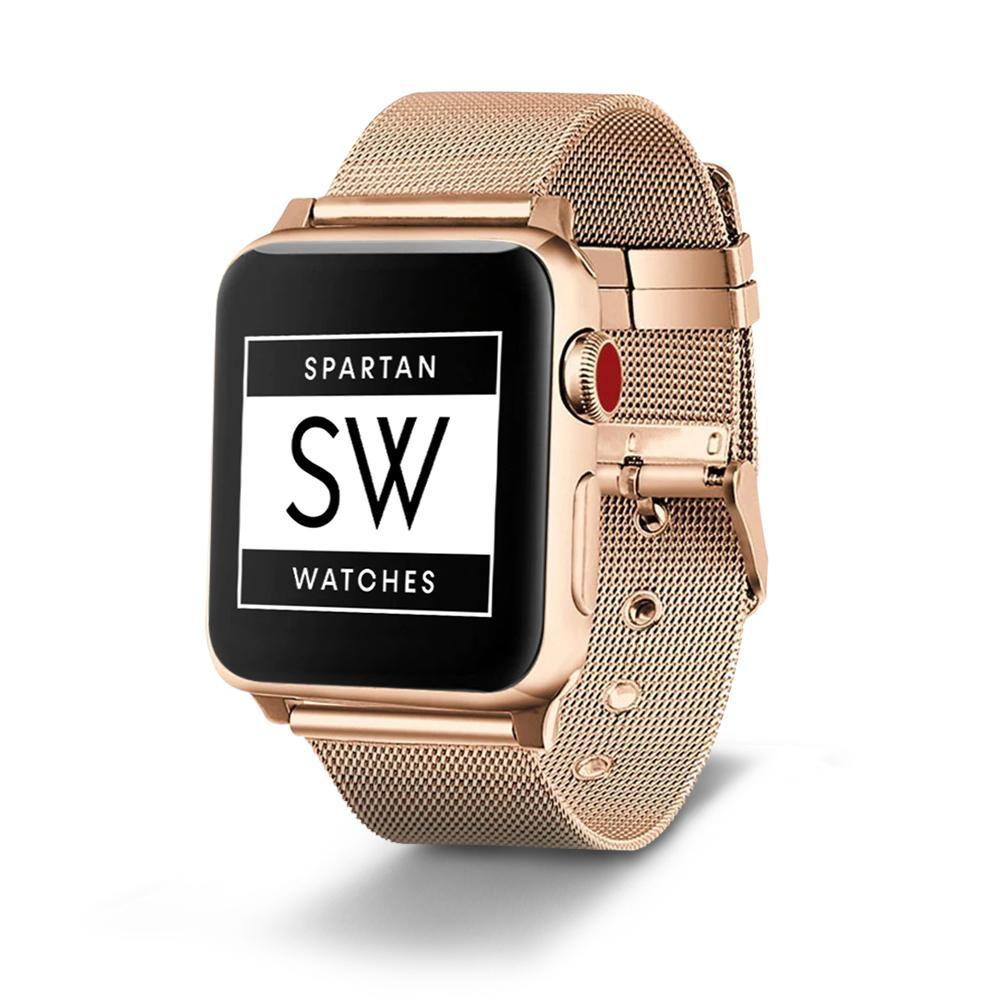 Spartan Watches Apple Watch Sale, 42mm | 44mm 42mm | 44mm FINAL SALE: Milanese Buckle Stainless Steel Band for Apple Watch, Gold, 42mm | 44mm