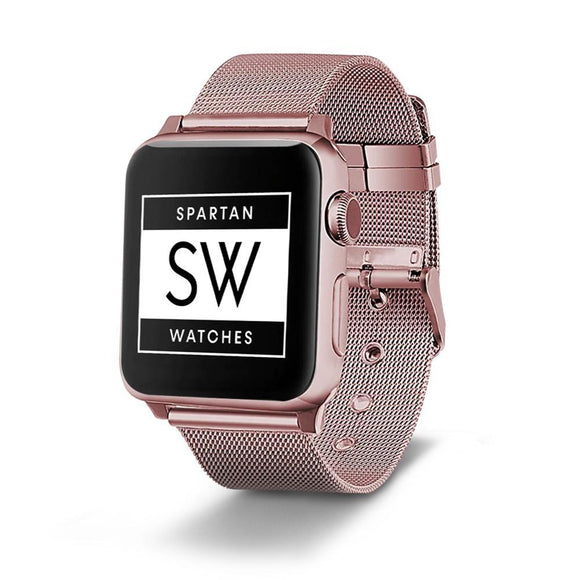 Spartan Watches Apple Watch Sale, 42mm | 44mm 42mm | 44mm FINAL SALE: Milanese Buckle Stainless Steel Band for Apple Watch, Rose Gold, 42mm | 44mm